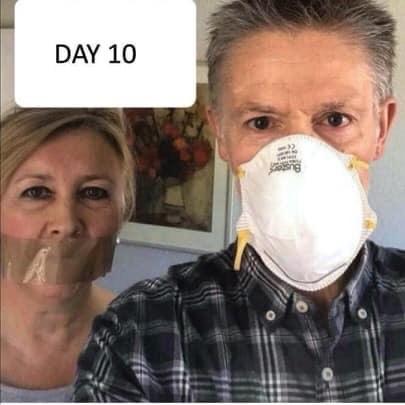 Slumpa fram roliga bilder på folk med panik pga pandemier som covid-19.