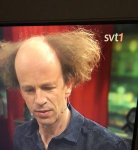 Eric Löwenthal dominerade frisyrmässigt när han var med på SVT.