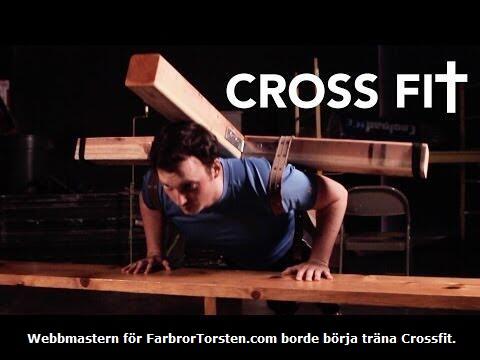 Den här bilden på hur man tränar crossfit har jag stulit från en annan humorsajt.