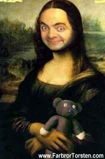Mr Bean och Mona Lisa.
