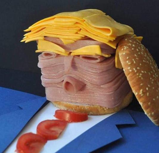 Skämtsamma matbilder - här på Donald Trump