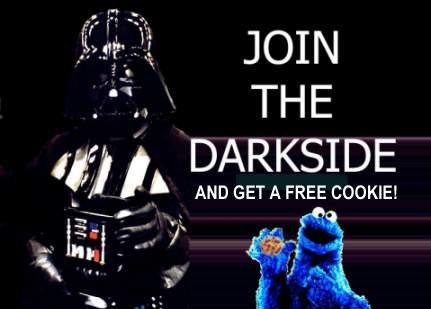 Satirbilder - Darth Vader och kakmonsret