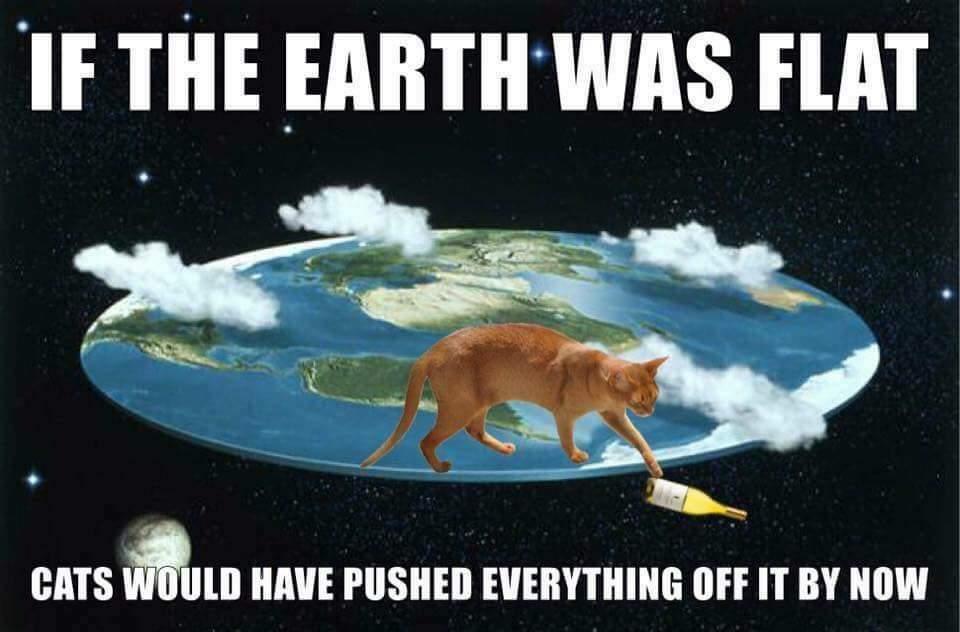 Om jorden vore platt och katterna stora hade vi problem.