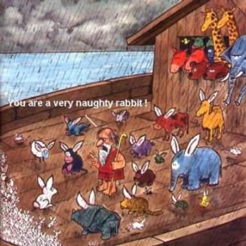 Inte för att Noaks ark fanns, men hade den det hade det sett ut så här. Roliga djurbilder finns här.