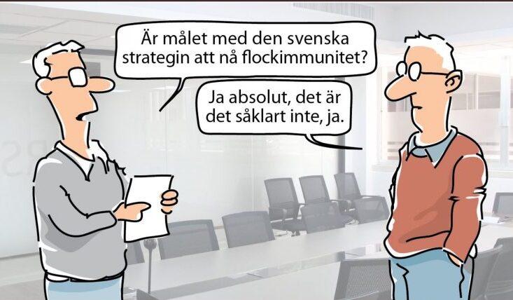 Steget Efter skojar om pandemins ofrivilligt roligaste person, Anders Tegnell. Rena pandemiskämtet!